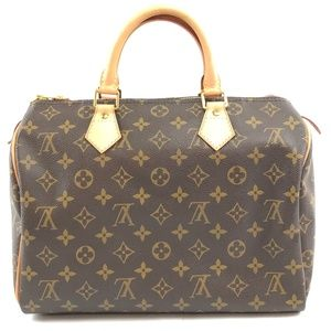 Speedy 30 Boston Monogram Coated Canvas Satchel